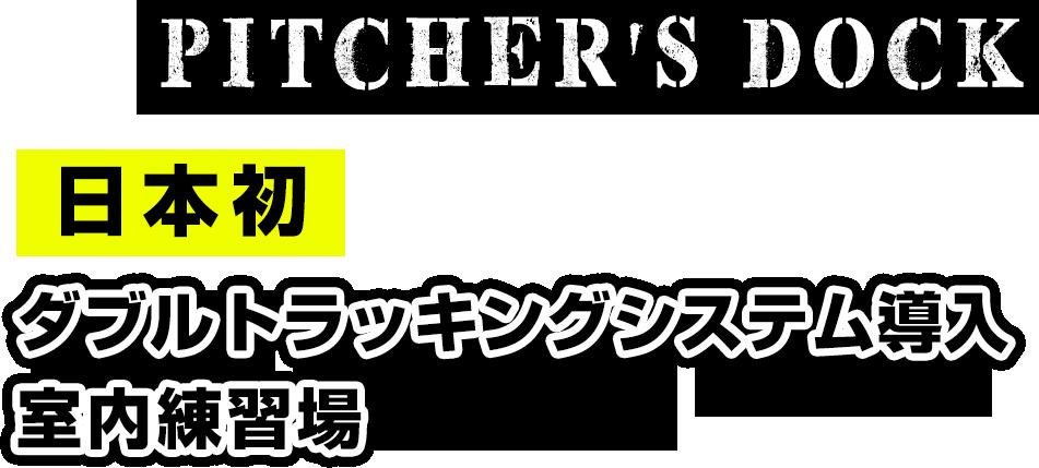 pitcher's dock,日本初!ダブルトラッキングシステム導入の室内練習場